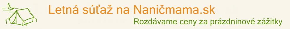 Letná súťaž na Nanič mama.sk