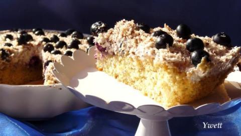 Čučoriedkový koláč - recept postup 2