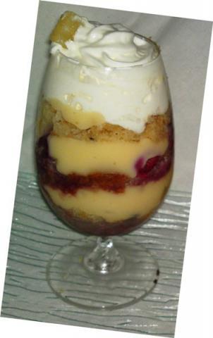 Ananásovo- malinové trifle - recept postup 1
