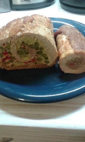 sviatočná mäsová roláda - recept postup 6