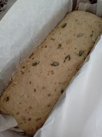 Kváskový chlebík bez miesenia - recept postup 1
