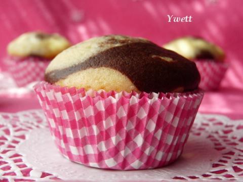 Mramorové muffiny s čokoládou - recept postup 2