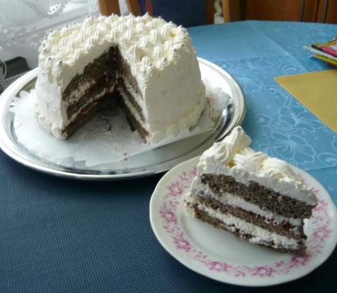 Makovo biela torta - recept postup 1