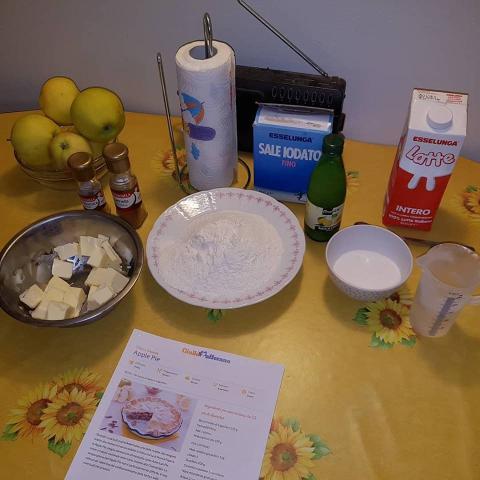Jablkový koláč americkej babky - recept postup 1