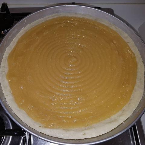 Torta s mandľovým krémom a figami - recept postup 3