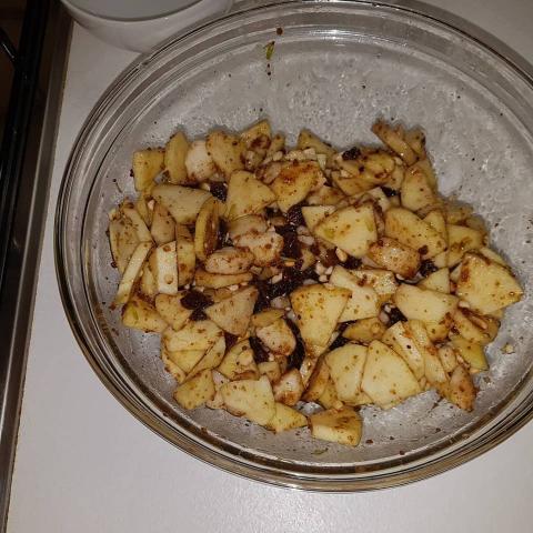 Jablkovo hrušková štrúdľa - recept postup 2