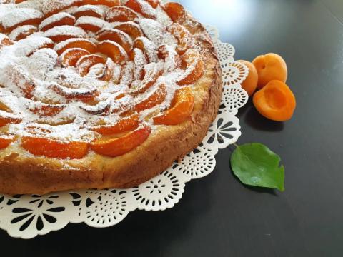 Marhuľový koláč s ricottou - recept postup 1