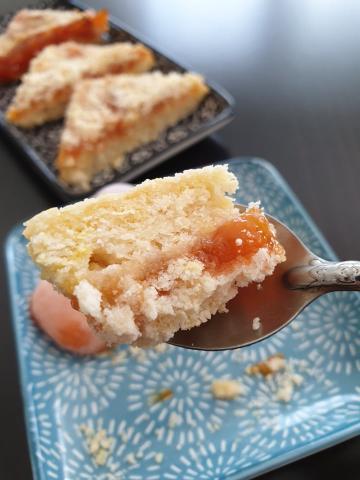 Sypaný koláč s džemom - recept postup 2