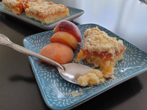 Sypaný koláč s džemom - recept postup 3