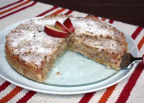 Švédsky jablkový koláč - recept postup 13