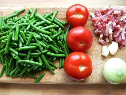 Zelená fazuľka na baskický spôsob - recept postup 1