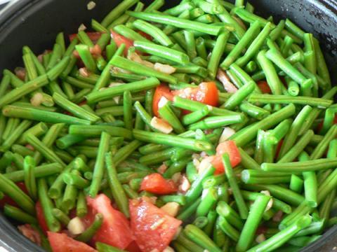 Zelená fazuľka na baskický spôsob - recept postup 4
