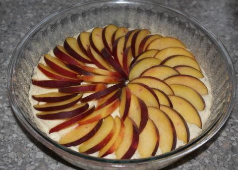 Broskyňový koláč - recept postup 4