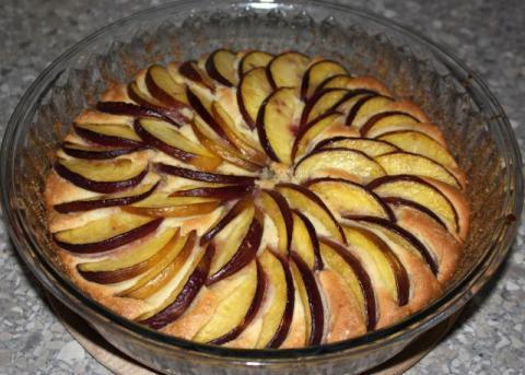Broskyňový koláč - recept postup 5