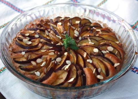 Broskyňový koláč - recept postup 6