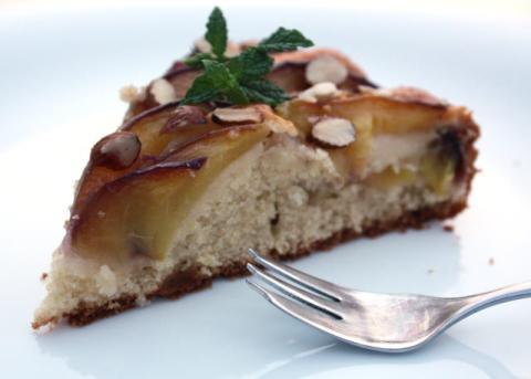 Broskyňový koláč - recept postup 7