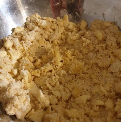 Sypaný brusnicový koláč - recept postup 1