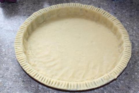 Čerešňovo - tvarohový koláč - recept postup 2