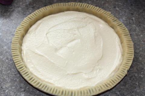 Čerešňovo - tvarohový koláč - recept postup 3