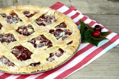 Čerešňovo - tvarohový koláč - recept postup 8