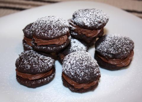 Mini čokoládové koláčiky - recept postup 11