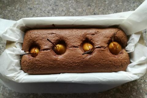 Čokoládovo - hruškový koláč - recept postup 2
