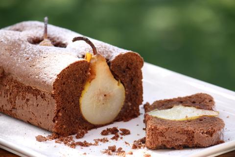 Čokoládovo - hruškový koláč - recept postup 4