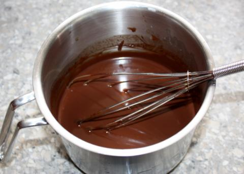 Čokoládovo-smotanové lasagne - recept postup 1