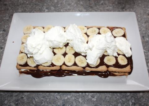 Čokoládovo-smotanové lasagne - recept postup 4