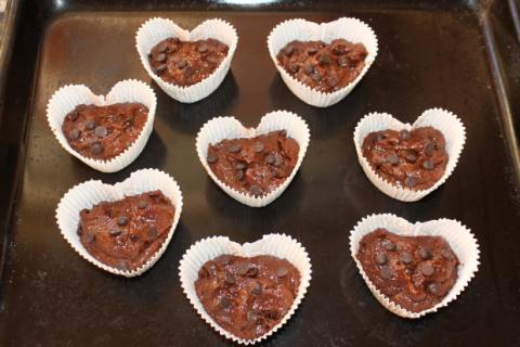 Čokoládové muffiny z lásky - recept postup 6
