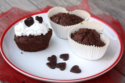 Čokoládové muffiny z lásky - recept postup 8