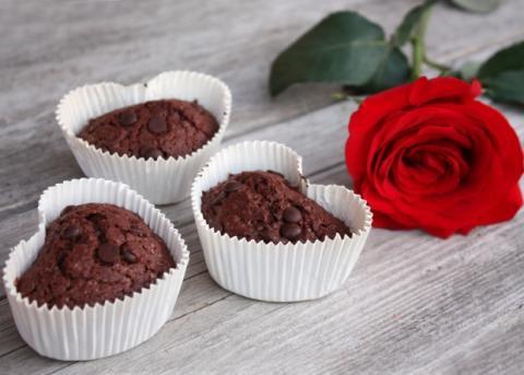 Čokoládové muffiny z lásky - recept postup 9