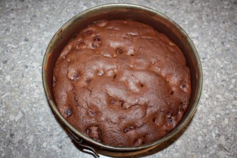 Čokoládovo - čerešňová tortička s tvarohom - recept postup 7
