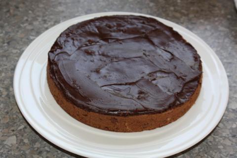 Čokoládovo jahodová torta - recept postup 5