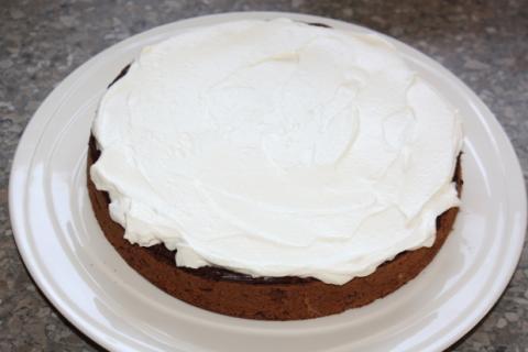 Čokoládovo jahodová torta - recept postup 6