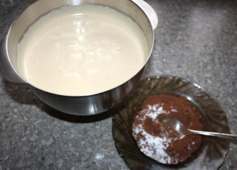 Čokoládovo orechové rezy bez múky - recept postup 1