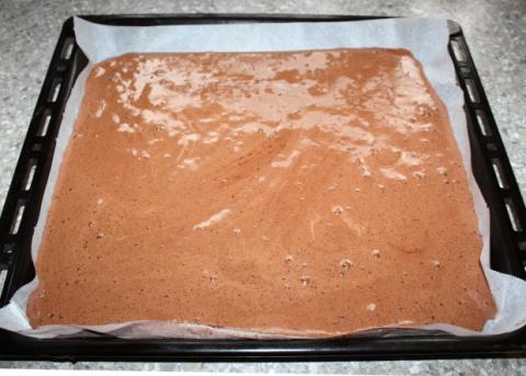 Čokoládovo orechové rezy bez múky - recept postup 2