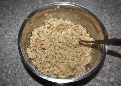 Čokoládovo orechové rezy bez múky - recept postup 4