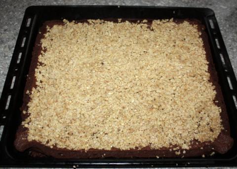Čokoládovo orechové rezy bez múky - recept postup 5