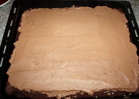 Čokoládovo orechové rezy bez múky - recept postup 8