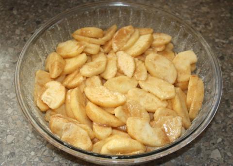 Jablkový crumble - recept postup 7