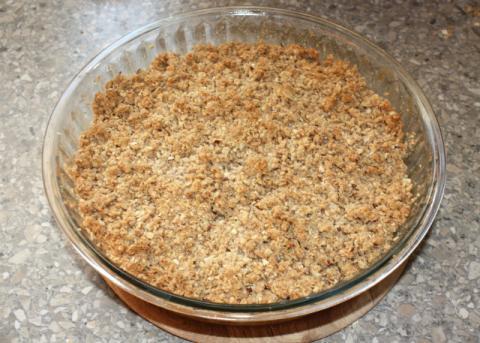 Jablkový crumble - recept postup 9