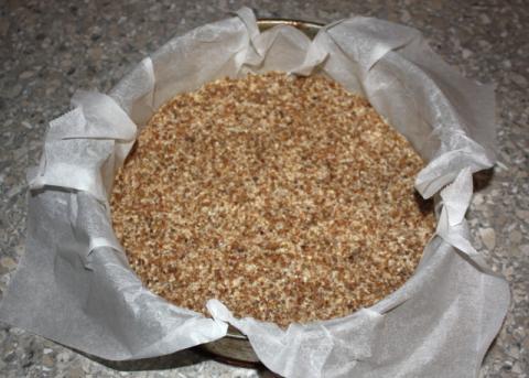 Čučoriedková torta bez múky, cukru a pečenia - recept postup 5