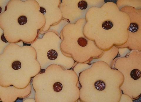Linecké koláčiky deťom - recept postup 3
