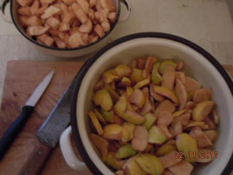 Dulový syr zo šupiek - recept postup 2