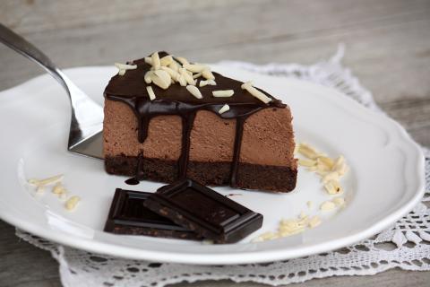 Extra čokoládová mousse tortička - recept postup 1