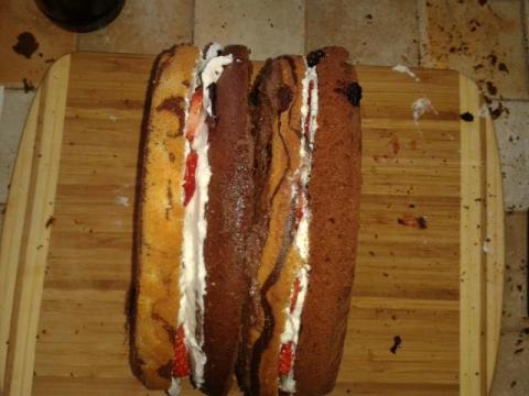 Torta pre Tamarku - KABELKA  - recept postup 5