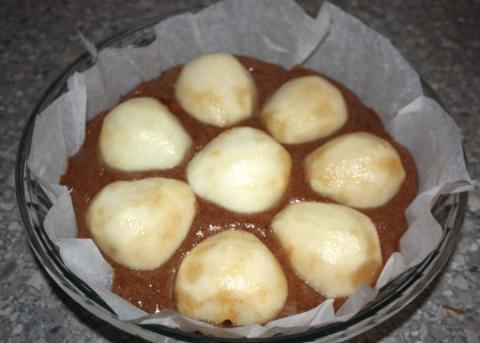 Čokoládový koláč s hruškami - recept postup 10