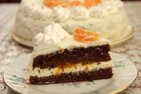Kokosová torta s mandarínkami - recept postup 1