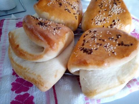 Vreckový plnený sendvič - recept postup 7